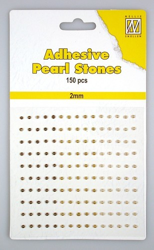 150 Adhesive pearls 2mm 3-colors - Brown