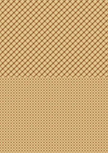 Doublesided background sheets A4 brown squares