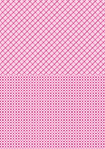 Doublesided background sheets A4 pink squares