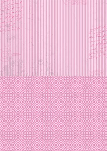Doublesided background sheets A4 pink stripes