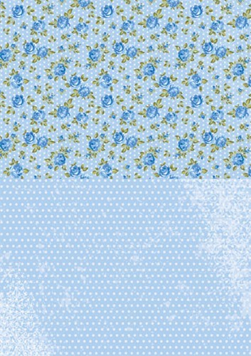 Doublesided background sheets A4 blueroses