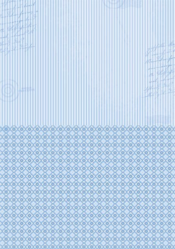 Doublesided background sheets A4 blue stripes