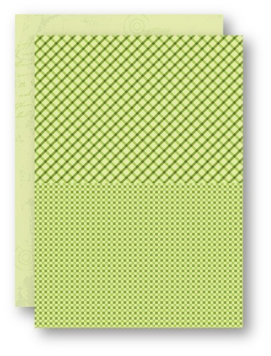 Doublesided background sheets A4 green squares