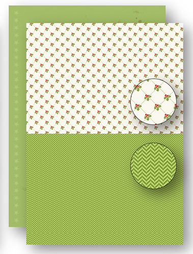 Background sheets doublesided Christmas green holly