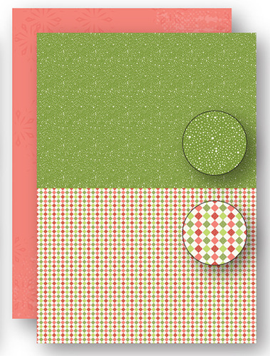 Background sheets doublesided Christmas green dots