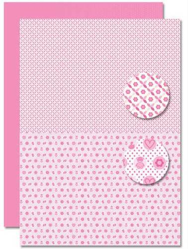 Decoupage sheet - Doublesided - Pink - Babygirl-miscellany