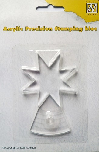 Acrylic precision stamp bloc, 8mm A+4mm B with handle
