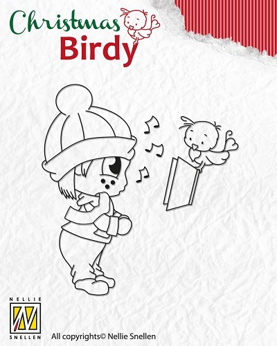 Clear Stamp Christmas Birdie - Christmas song
