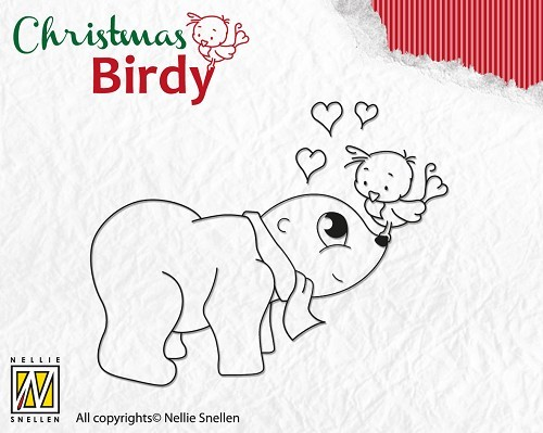 Clear Stamp Christmas Birdie - I love you
