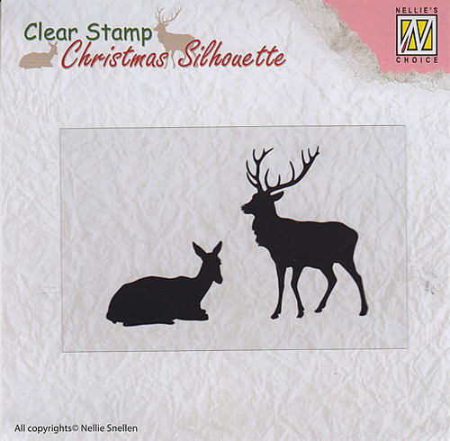 "Christmas Silhouette Clear stamps ""reindeer"""