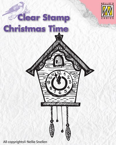 Clear stamps - Christmas Time - Clock