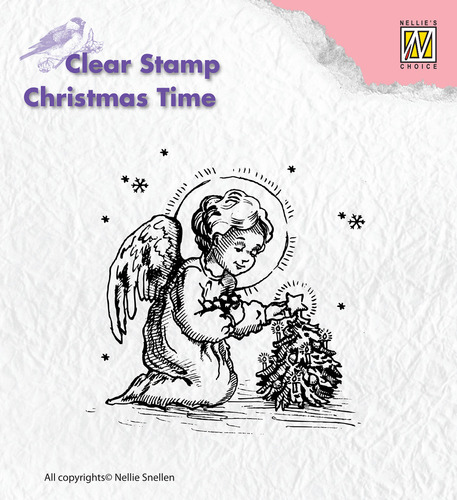 Clear Stamps - Christmas time - Little angel, decorating