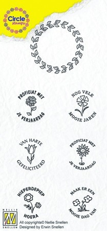 Circle clear stamps Congratulations-serie Dutch Texts