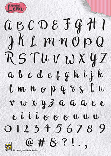 Clear stamp Alphabet Lena
