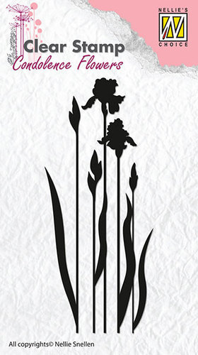Clear stamps - Condolence flowers flower-4