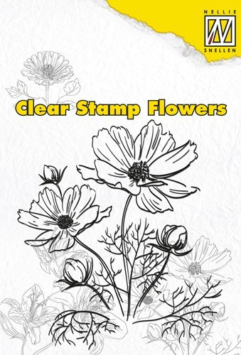 Clear stamps flowers Anemone