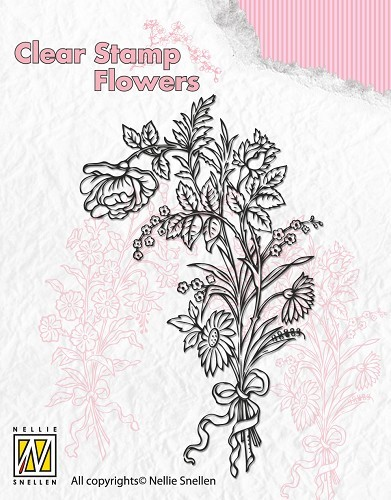 Clear Stamp Flowers - Bouquet of wild flowers 1