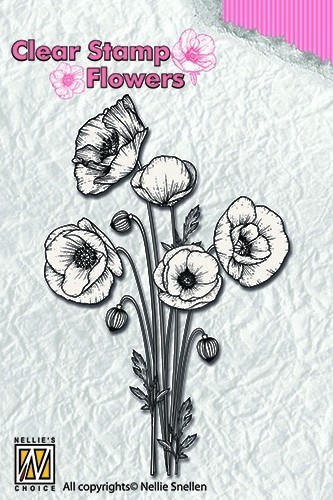 Clear stamps Flowers- Poppies
