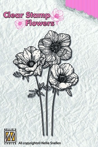 Clear stamps Flowers- Anemones
