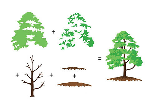 Hobby solution 3D clear stamps Trees