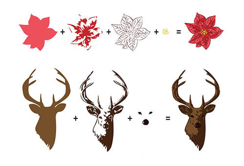 Hobby solution 3D clear stamps Reindeer