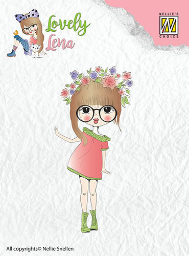 Clearstamps - Lena, floral wreath