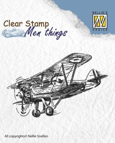 Clear stamps - Men things - Aeroplane