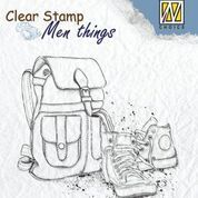 "Clear stamps Men Things ""Backpack & shoes"""