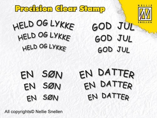 Precision clear stamps Danish Texts-1