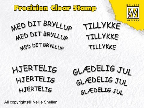 Precision clear stamps Danish Texts-2