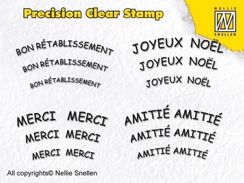 Precision clear stamps French Texts-1