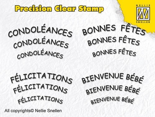 Precision clear stamps French Texts-2