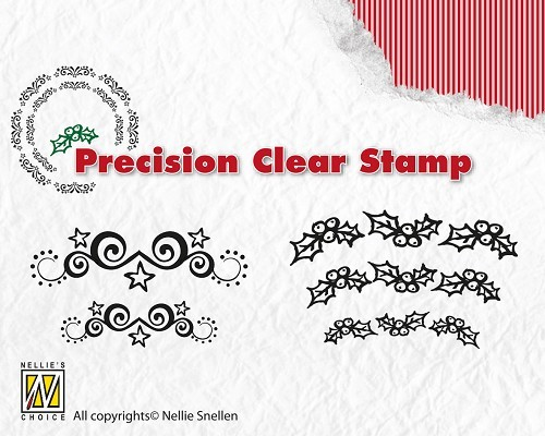 Precision Stamps - Starswirls-holly