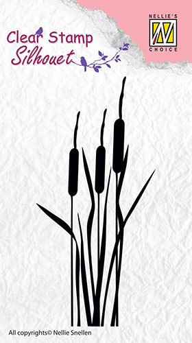 Silhouette clear stamps - Bulrushes