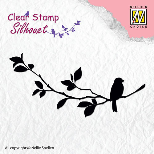 Silhouette clear stamps - Birdsong-1