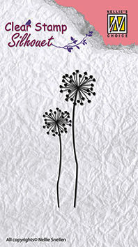 "Clear stamps flower silhouettes ""flower-9"""