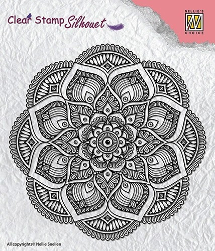 "Clear stamps Silhouette ""Mandala"""