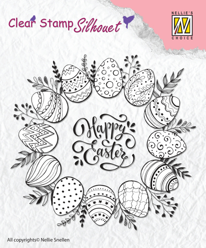 "Clear Stamps silhouette ""Happy Easter"""