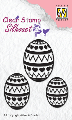 "Clear Stamps silhouette ""Easter Eggs"""