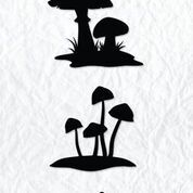 "Silhouette clear stamps ""mushrooms"""
