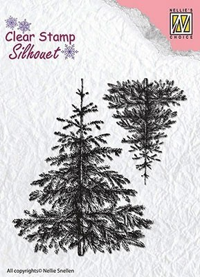 "Silhouette ""Christmas fir-trees"""