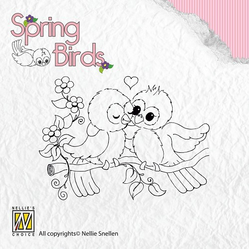 Clear stamps Spring-birds Spring-love