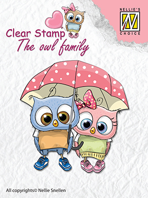 Clear stamps The owl family Walking in the rain