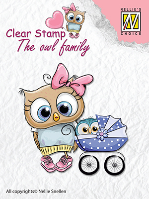 Clear stamps The owl family Mother with baby