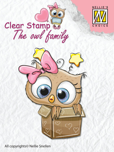 "Clear Stamps The owl Family ""in the box"""