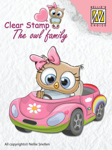 "Clear Stamps The owl Family ""car"""
