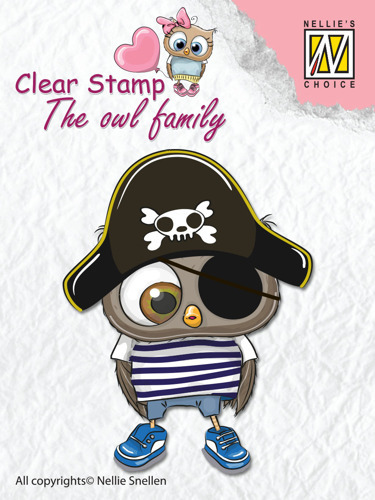 Clear Stamps The owl Family pirate