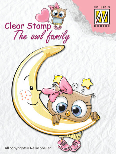 "Clear Stamps The owl Family ""moon"""