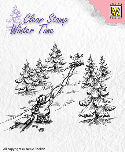 Clear Stamps - Winter Time - Sledge fun