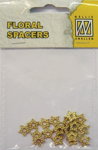 Floral spacers - gold
